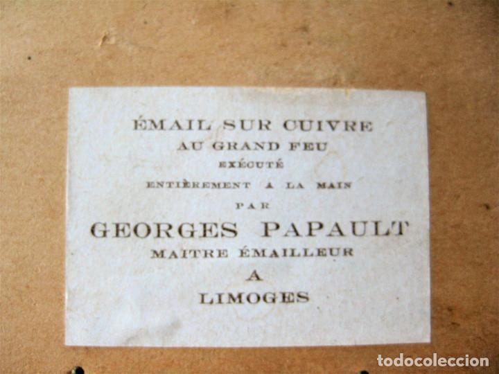 Arte: MAGNÍFICO PINTURA SOBRE COBRE DE LIMOGES, ESMALTADA FIRMADA POR GEORGES PAPAULT TODO HECHO A MANO - Foto 8 - 285664663