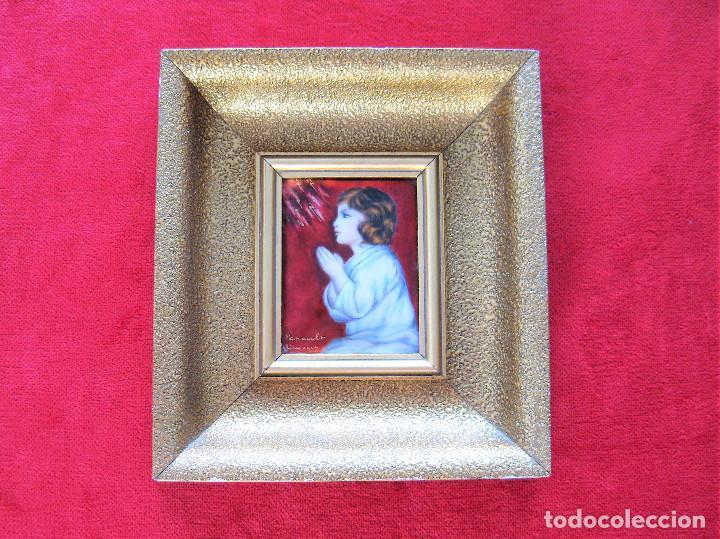 Arte: MAGNÍFICO PINTURA SOBRE COBRE DE LIMOGES, ESMALTADA FIRMADA POR GEORGES PAPAULT TODO HECHO A MANO - Foto 9 - 285664663