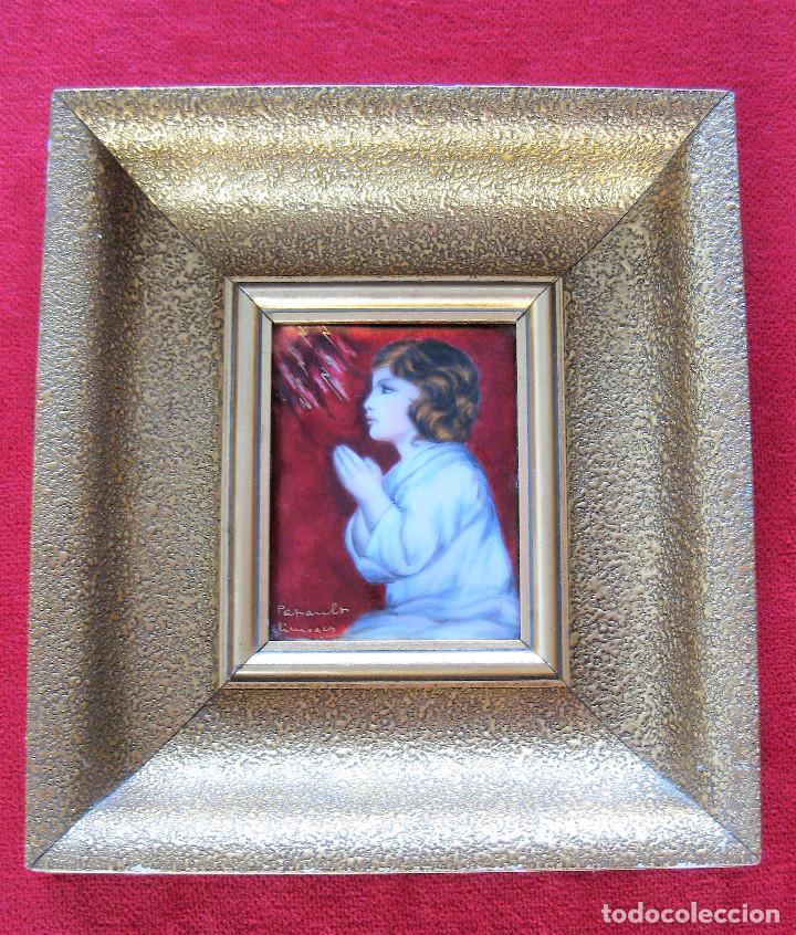 Arte: MAGNÍFICO PINTURA SOBRE COBRE DE LIMOGES, ESMALTADA FIRMADA POR GEORGES PAPAULT TODO HECHO A MANO - Foto 11 - 285664663