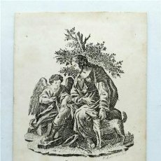 Arte: SAN ROQUE, PROTECTOR PARA LA PESTE. GRABADOR FACUNDO LARROSA. NICOLÁS SANCHÍS VALENCIA (S. XIX). Lote 285675968