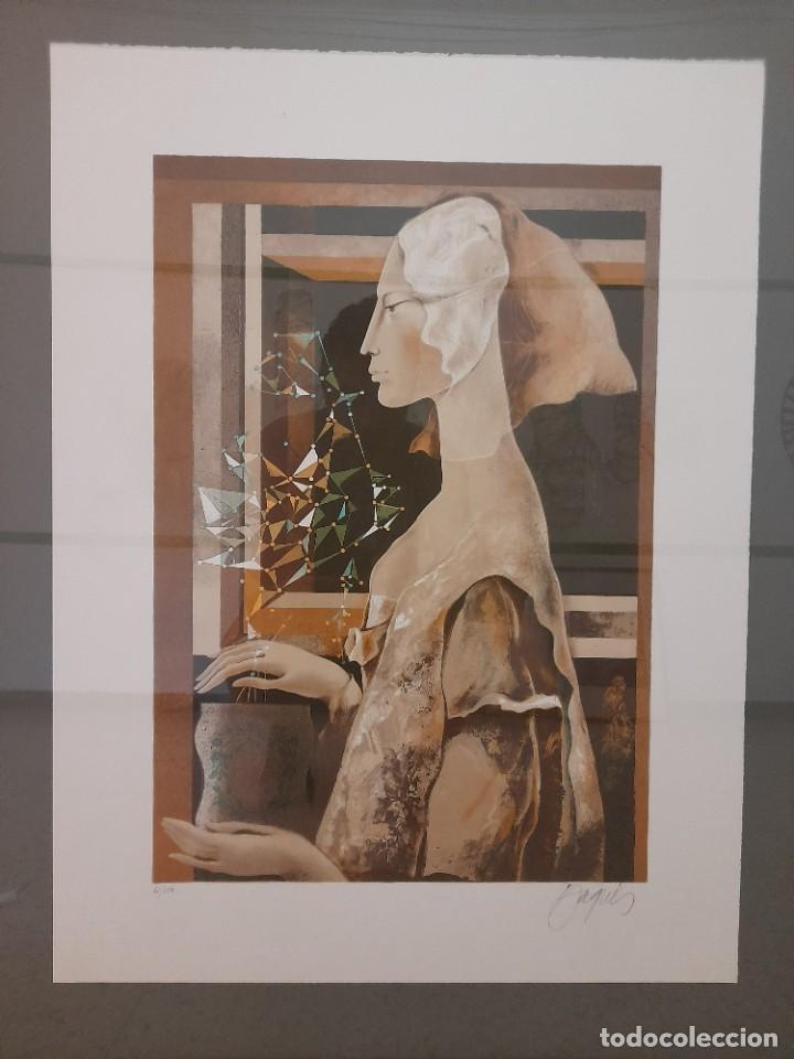 LITOGRAFIA JOSEP BAQUÉS, SIGNADA I CERTIFICADA (Arte - Arte Religioso - Litografías)