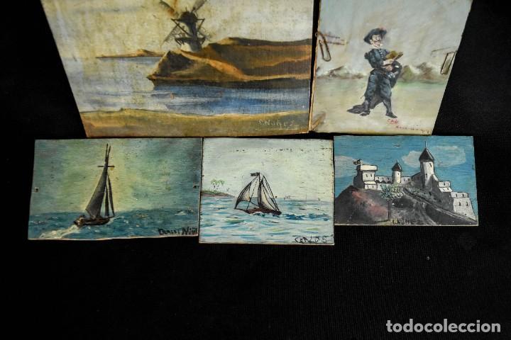 Arte: Pequeñas pinturas firmadas Núñez. - Foto 3 - 286681958