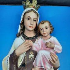 Arte: VIRGEN CON EL NIÑO OLOT. OJOS DE CRISTAL. Lote 286933113