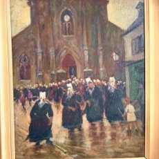 Arte: PINTURA RELIGIOSA OLEO SIGLO XVIII FIRMADO. Lote 287098698