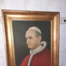 Arte: CUADRO OLEO SOBRE LIENZO.PAPA PABLO VI .MUY BUENA CALIDAD, ANONIMO.VER FOTOS... Lote 287162533