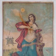 Arte: ANTIGUA LITOGRAFIA SANTA BARBARA.. Lote 287361718