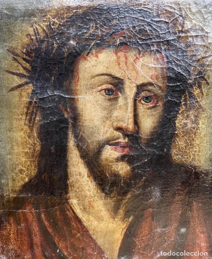 ÓLEO SOBRE LIENZO CRISTO SIGLO XVIII (Arte - Arte Religioso - Pintura Religiosa - Oleo)