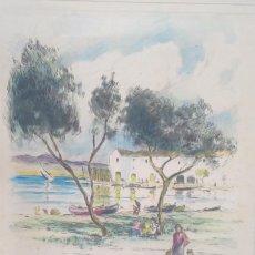 Arte: JOAQUIM TERRUELLA MATILLA- RINCON DE LA COSTA BRAVA-. Lote 287434518