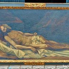 Arte: GRAN OLEO SIGLO XVIII CRISTO YACENTE. 2M X 1M. CON GRAN MARCO. VEAN FOTOS MERECE LA PENA.. Lote 287486623