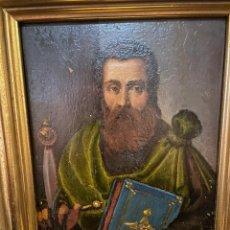 Arte: OLEO SOBRE COBRE CON LA IMAGEN DE SAN PABLO ALGUN DEFECTO RESEÑADO EN FOTO. Lote 287642243