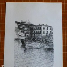 Arte: IBIZA PAISAJE IBICENCO LITOGRAFÍA POR JUAN CULLERA 20,5 X 30 CTMS. Lote 287670293