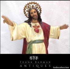 Arte: FANTÁSTICO SAGRADO CORAZÓN DE JESÚS CRISTO (OLOT) 70 CM - YESO POLICROMADO SIGLO XX - ENVÍO GRATIS*. Lote 287712038