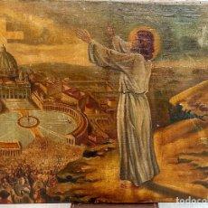 Arte: OLEO SIGLO XVIII O XIX. JESUCRISTO PREDICANDO A LA MULTITUD. 67 CM. Lote 287712278