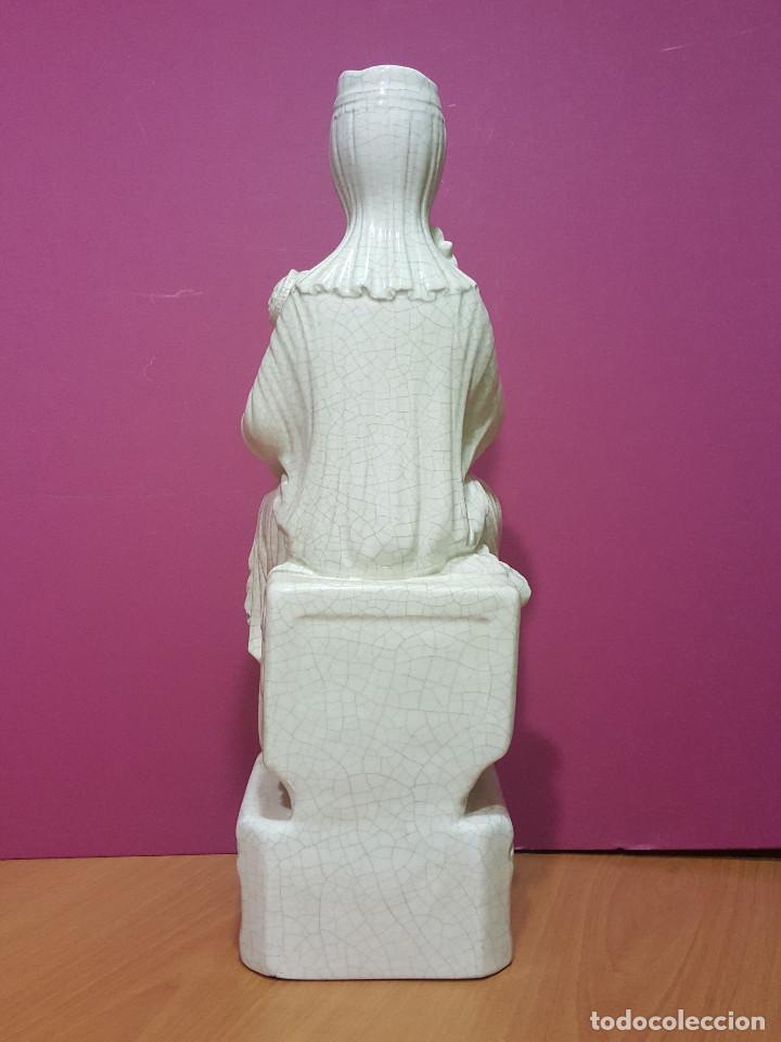 Arte: Virgen sedente con Niño de porcelana esmaltada en blanco. Último tercio del s. XIX. - Foto 5 - 287721828