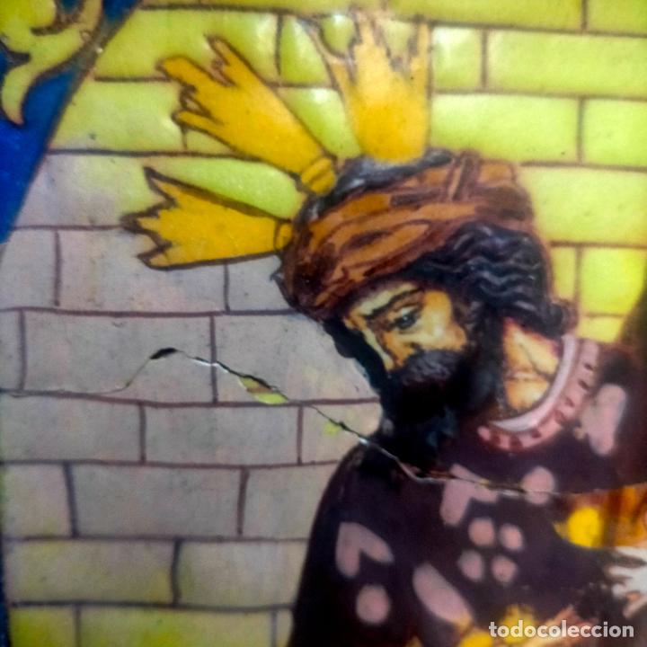 Arte: ORIGINAL RETABLO CERAMICO TERRACOTA PINTADO A MANO CRISTO DEL GRAN PODER SEMANA SANTA SEVILLA - Foto 5 - 288069078