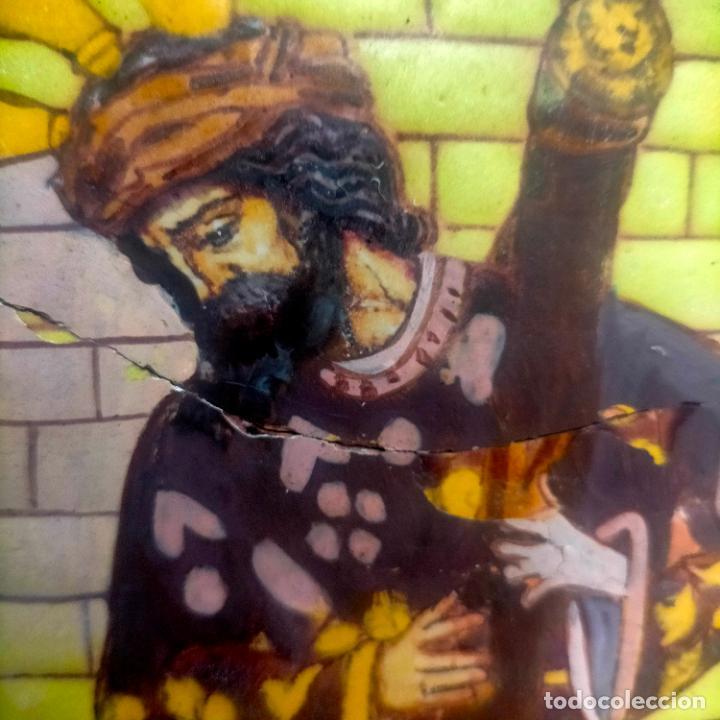 Arte: ORIGINAL RETABLO CERAMICO TERRACOTA PINTADO A MANO CRISTO DEL GRAN PODER SEMANA SANTA SEVILLA - Foto 7 - 288069078