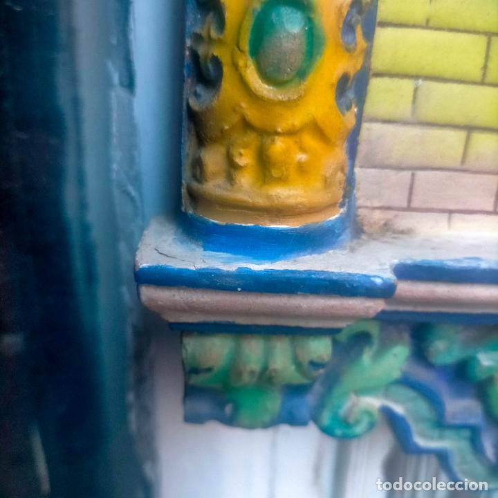 Arte: ORIGINAL RETABLO CERAMICO TERRACOTA PINTADO A MANO CRISTO DEL GRAN PODER SEMANA SANTA SEVILLA - Foto 9 - 288069078