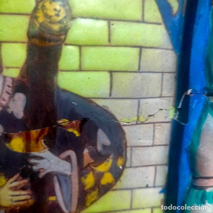 Arte: ORIGINAL RETABLO CERAMICO TERRACOTA PINTADO A MANO CRISTO DEL GRAN PODER SEMANA SANTA SEVILLA - Foto 13 - 288069078