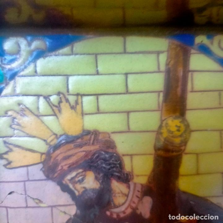Arte: ORIGINAL RETABLO CERAMICO TERRACOTA PINTADO A MANO CRISTO DEL GRAN PODER SEMANA SANTA SEVILLA - Foto 21 - 288069078