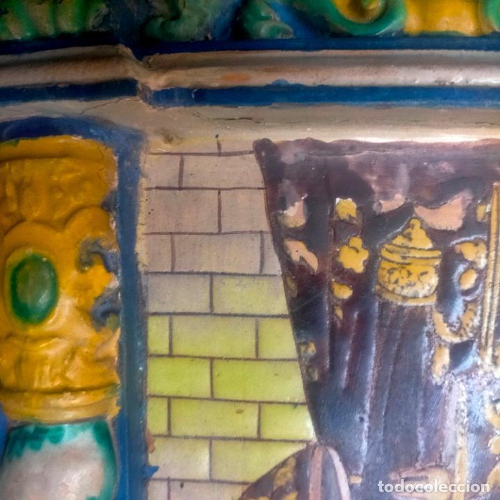 Arte: ORIGINAL RETABLO CERAMICO TERRACOTA PINTADO A MANO CRISTO DEL GRAN PODER SEMANA SANTA SEVILLA - Foto 23 - 288069078