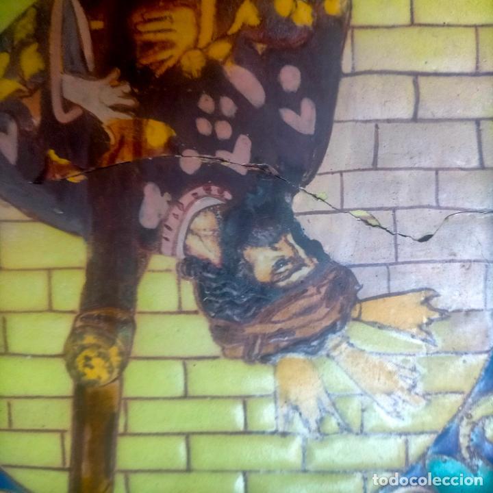 Arte: ORIGINAL RETABLO CERAMICO TERRACOTA PINTADO A MANO CRISTO DEL GRAN PODER SEMANA SANTA SEVILLA - Foto 29 - 288069078