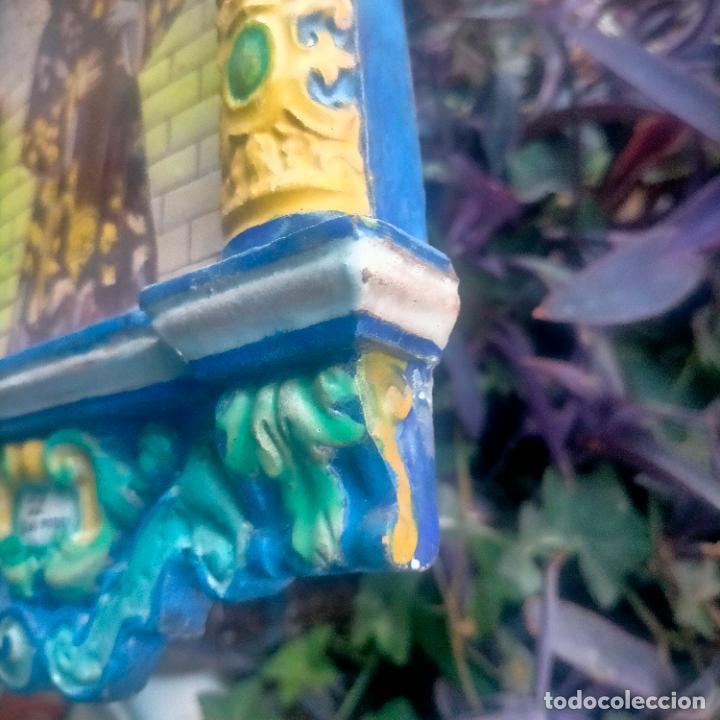 Arte: ORIGINAL RETABLO CERAMICO TERRACOTA PINTADO A MANO CRISTO DEL GRAN PODER SEMANA SANTA SEVILLA - Foto 35 - 288069078