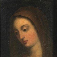 Arte: ESCUELA ESPAÑOLA S. XVIII - VIRGEN - OLEO SOBRE TELA - ENMARCADO. Lote 288678738