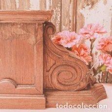 Arte: GRAN TALLA DE MADERA PEDESTAL PEANA ANTIQUE UNIQUE. Lote 288973258