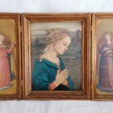 Arte: ANTIGUO TRIPTICO RELIGIOSO.. Lote 289296063