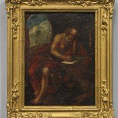 Arte: SAN JERONIMO. OLEO S/ COBRE. SIGLO XVII. MARCO SIGLO XIX. Lote 289340238