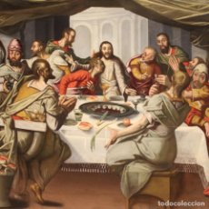Arte: PINTURA RELIGIOSA FLAMENCA ANTIGUA ÚLTIMA CENA DEL SIGLO XVI. Lote 290056273