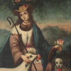 Arte: LA DIVINA PASTORA. ÓLEO SOBRE LIENZO. ESCUELA ANDALUZA DEL SIGLO XVIII. MIDE 81 X 60 CM.. Lote 290144088