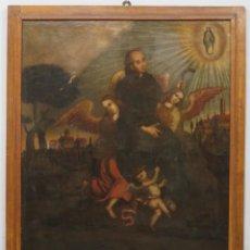 Arte: SAN PEDRO REGALADO. OLEO SOBRE LIENZO. SIGLO XVII. MARCO DE EPOCA. Lote 290929928