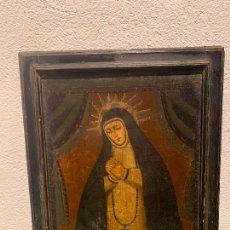 Arte: ESCUELA ESPAÑOLA O COLONIAL CON MARCO DE ÉPOCA SIGLO XVII-XVIII. Lote 291006068