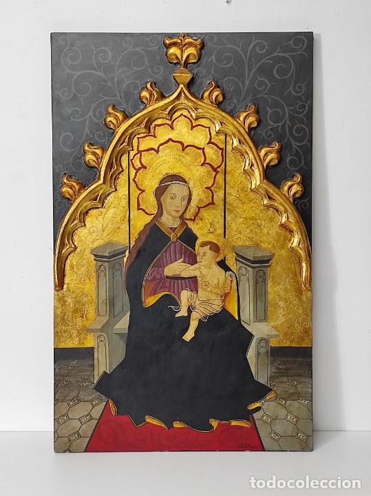 VILA DE ROCA - ICONO - VIRGEN CON NIÑO - MAESTRO JAUME HUGET S. XIV (MUSEO EPISCOPAL DE VIC) (Arte - Arte Religioso - Iconos)