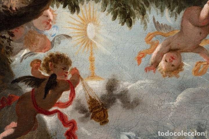 Arte: JUAN ANTONIO DE FRIAS Y ESCALANTE San Pascual Bailón Magnífico Óleo sobre lienzo catalogado - Foto 5 - 144468086