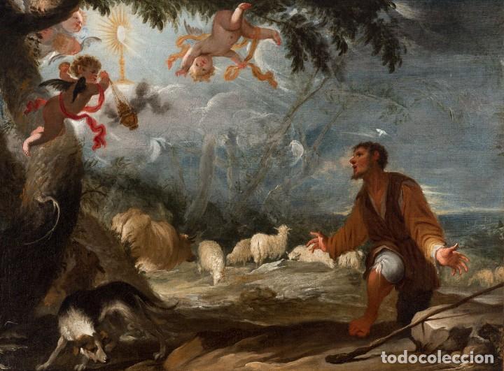 Arte: JUAN ANTONIO DE FRIAS Y ESCALANTE San Pascual Bailón Magnífico Óleo sobre lienzo catalogado - Foto 6 - 144468086