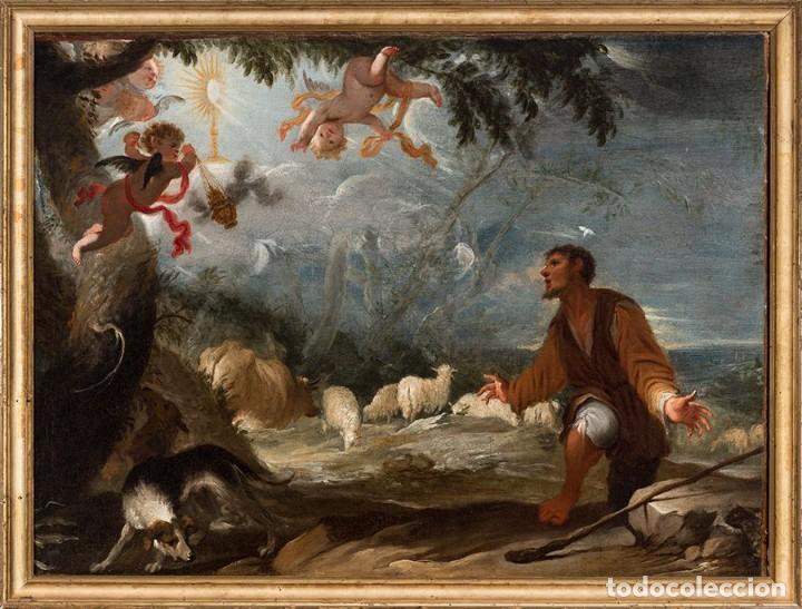 JUAN ANTONIO DE FRIAS Y ESCALANTE SAN PASCUAL BAILÓN MAGNÍFICO ÓLEO SOBRE LIENZO CATALOGADO (Arte - Arte Religioso - Pintura Religiosa - Oleo)