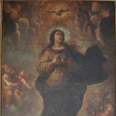Arte: LA VIRGEN INMACULADA. ÓLEO SOBRE LIENZO. ESC. ESPAÑOLA. S. XVII-XVIII. MIDE 142 X 98 CM.. Lote 293836713