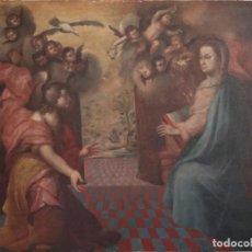 Arte: LA ANUNCIACIÓN. ÓLEO SOBRE LIENZO. ESC. ESPAÑOLA. SIGLO XVII. MIDE 164 X 124 CM.. Lote 293837673