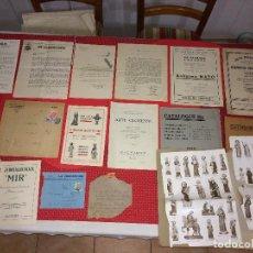 Arte: LOTE DE CATALOGOS Y TARIFAS DE EMPRESAS DE OLOT - AÑS 30 / 40 Y 50. Lote 294109638
