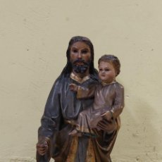 Arte: PRECIOSO SAN JOSE DE TALLA OJOS DE CRISTALES FINALES DE S. XVIII (5354/21). Lote 294166793