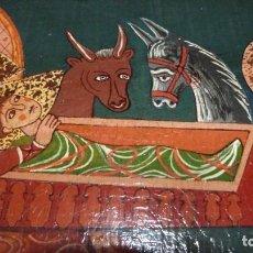 Arte: CUATRO ICONOS ORTODOXOS, 27X21X2,SOBRE TABLEX.PINTURA ARTISTICA MANUAL, BARNIZ,VER IMAGENES. Lote 295294708