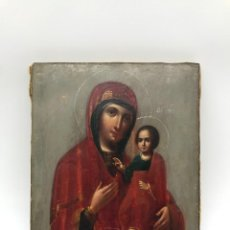 Arte: MAGNIFICO ICONO VIRGEN CON EL NIÑO, S. XIX. Lote 295303528