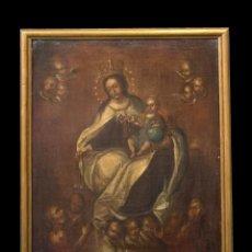 Arte: INTERESANTE VIRGEN DEL CARMEN, S. XVIII, ESC. ITALIANA. Lote 295310708