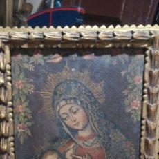 Arte: ANTIGUA PINTURA RELIGIOSA DE LA VIRGEN DE LA LECHE PROBABLEMENTE MEDIADOS DEL SIGLO 20. Lote 295639258