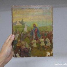 Arte: ANTIGUO ICONO PINTADO RELIGIOSO RUSO ORTODOXO DE PRINCIPIOS S.XX, ORIGINAL.. Lote 296052108