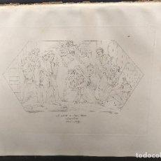 Arte: EL NACIMIENTO DE JESUS, RAFAEL SANZIO, GRABADO COBRE Nº 58, FIRMIN DIDOT 1844. NAVIDAD. Lote 296580213