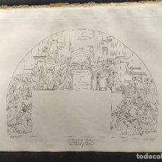 Arte: EL MILAGRO DE BOLSENA, RAFAEL SANZIO, GRABADO COBRE Nº 64, FIRMIN DIDOT 1844.. Lote 296581678