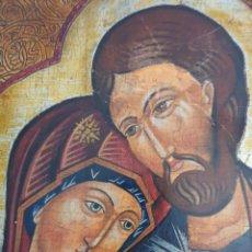 Arte: INTERESANTE ICONO PINTURA RELIGIOSA SOBRE MADERA. Lote 296786963
